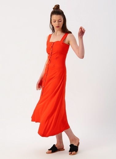 Limon Company Limon Turuncu Elbise Oranj